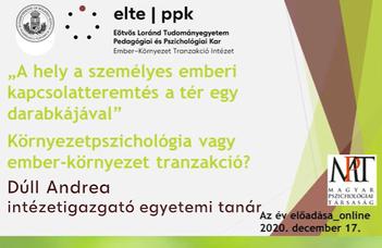 Magyar Pszichológiai Társaság – Az Év Előadása 2020